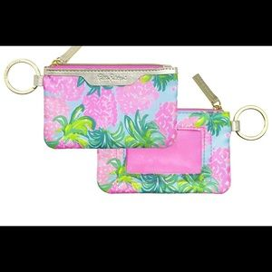 🎀 Lilly Pullitzer ID Case Pineapple Shake New 🎀